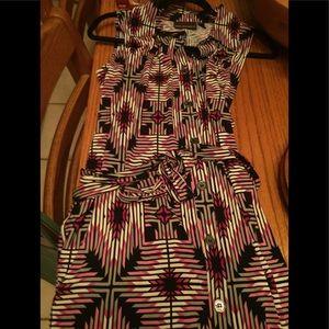 Dana Bachman silky belted dress.